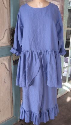 washed linen bloomer ruffled pant ready to ship by linenclothing, $99.00