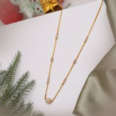 Plain Gold Necklace gms) - Fancy Jewellery for Women by Jewelegance Gold Mangalsutra Designs, Gold Earrings Designs, Fancy Jewellery, Gold Jewellery Design, Gold Chain Design, Gold Jewelry Simple, Gold Necklace, Necklace Set, Ram Image