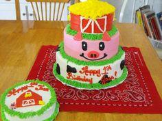 Barn Yard - Barn Yard 1st birthday and smash cake