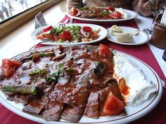 One of the best dishes I ever ate.. . iskender kebab