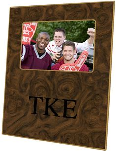 F1908-Tau Kappa Epsilon on Burlwood Picture Frame $46.00 #TauKappaEpsilon #TKE