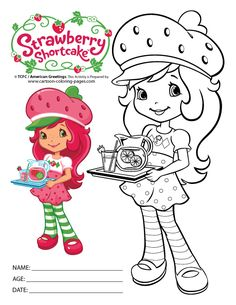 strawberry shortcake printables | Strawberry Shortcake Coloring Pages Free