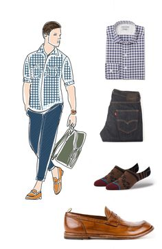 How to wear loafers.