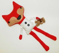 Stuffed Fox Plush with Teddy Bear by GiftsFromTheMitten on Etsy https://www.etsy.com/listing/189164876/stuffed-fox-plush-with-teddy-bear