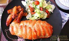 Impresja smaku...: Piersi kurczaka faszerowane szpinakiem pieczone w cieście francuskim