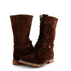 GHETE PIELE NATURALA DARK BROWN  169,0 LEI Lei, Combat Boots, Shoes, Fashion, Accessories, Moda, Zapatos, Shoes Outlet, Fashion Styles