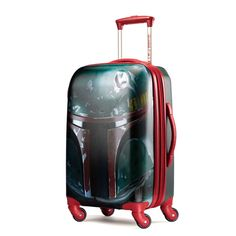 American Tourister Star Wars Boba Fett 28' Spinner Luggage Red - LuggageDesigners