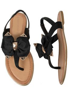 Pia Rossini Bow Top Sandals