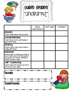 Conference Forms and Rubrics for the Year - Sarah's Teaching Snippets Guided Reading Groups, Reading Centers, Reading Lessons, Reading Workshop, Reading Resources, Reading Strategies, Reading Skills, Reading Comprehension, Reading Goals