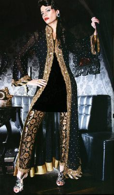 Jamawar trouser suite