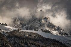 The jagged snowy peaks that surround Chamonix France [OC] [2160  1440] #reddit