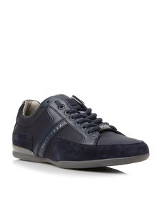 Hugo Boss Spacit Lace Up Trainers, Navy