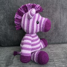 Amigurumi Zane the Zebra