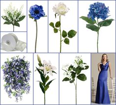 Sapphire blue and white wedding inspiration board