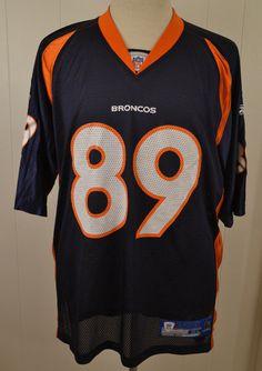 Reebok Denver Broncos #89 Daniel Graham Replica NFL Jersey Adult XL Navy Blue