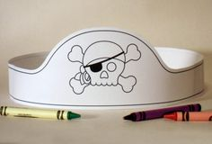 Pirate Paper Crown COLOR YOUR OWN Printable por PutACrownOnIt