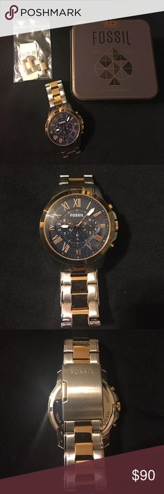 1c9db440d93 Men s fossil Watch Men s fossil watch only worn two times comes with  original box and tags with extra links Fossil Accessories Watches