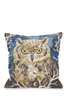 Rivers Owl Pillow
