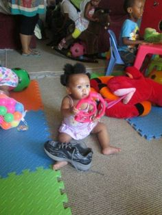 We're not sure whose shoe that is. She doesn't seem to mind though.