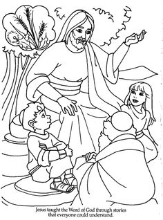 Word of God Bible Coloring Pages