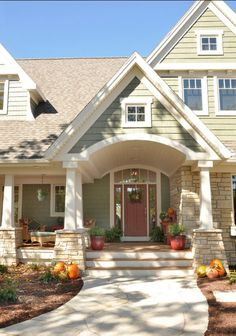 such a beautiful and welcoming front porch