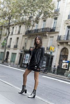 Black Leather Moment in Paris | Song of Style | Bloglovin'