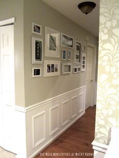 Wall idea - paint all the frames the same color