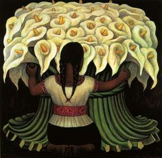 Flower Seller by Diego Rivera Diego Rivera was a prominent Mexican painter and husband of Frida Kahlo. His large wall works in fresco helped establish the Mexican Mural Movement in Mexican art. Wikipedia Born: December 8, 1886, Guanajuato Died: November 24, 1957, Mexico City Period: Social realism