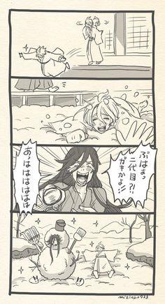 【刀剣乱舞】初めて雪を見てはしゃぐ歌仙兼定【漫画】 - 刀剣速報-刀剣乱舞まとめブログ-
