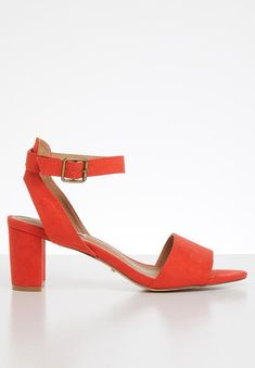 Ava block heel - coral Madison® Heels | Superbalist.com Ava, Block Heels, Open Toe, Ankle Strap, Two By Two, Coral, Footwear, How To Wear, Shoes