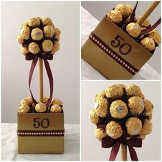 DIY Gifts And Wrap : Celebrate any birthday! DIY Gifts And Wrap 2018 Celebrate any birthday! 50th Wedding Anniversary, Anniversary Parties, 50th Birthday Party, Birthday Presents, Birthday Money, Happy Birthday, Sweet Trees, Chocolate Bouquet, Candy Bouquet