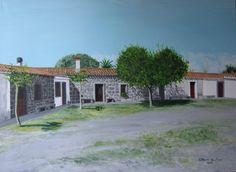 casa campestre S Agostino Abbasanta (or) ....   dipinto a olio su tela .