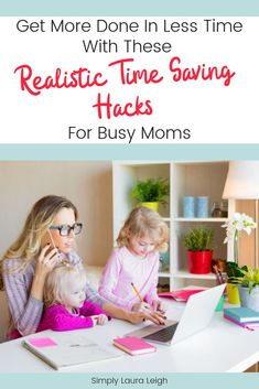 get more done in less time with these 3 realistic time saving hacks for busy moms! These tips & tricks will show you how to automate some of your daily tasks and routine so you can get a little bit of free time during your day! Saving Tips, Time Saving, How To Juggle, Overwhelmed Mom, Working Mums, Organized Mom, Happy Mom, Stay At Home Mom, Mom Advice