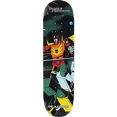 Primitive Skateboarding Brian Peacock Transformers Hot Rod Skateboard Deck – 8″ x 31.9″ with Jessup Grip Tape – Bundle of 2 items: Deck…