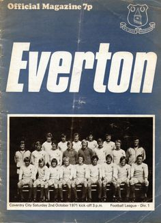 Everton v Coventry City 1971-72 match day programme