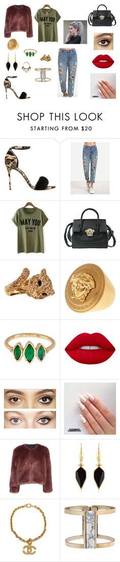 """&"" by ohbabyimrachel ❤ liked on Polyvore featuring Sergio Rossi, Versace, Roberto Cavalli, BROOKE GREGSON, Lime Crime, Charlotte Tilbury, Stine Goya, Isabel Marant, Chanel and Eloquii"