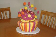 Lorax theme baby shower   topsy turvey cake