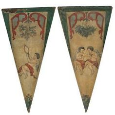 Pair of French Carousel Panels