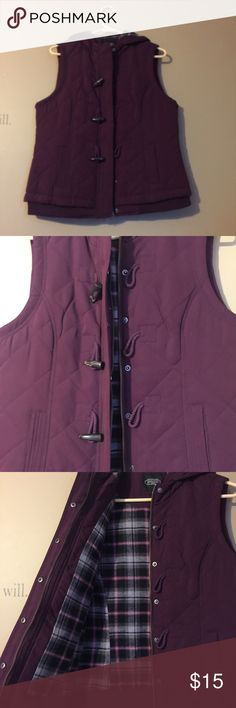 Purple plaid vest Great condition, only worn a few times. BGSD Jackets & Coats Vests