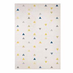 Cabriolet Tapis beige à motifs triangles 160x230cm