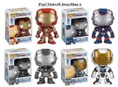 Amazon.com: Funko Iron Man 3 Movie POP!: Set of ALL 4 Figures!! Iron Man Mark IV, War Machine, Iron Patriot & the Iron Man Deep Space Suit!!: Toys & Games
