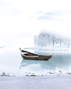 3D Environment created by Karl George Studio, featuring a rowing boat sat on top of a winter lake. Sit On Top, Rowing, 3d Design, Environment, Boat, Studio, Winter, Travel, Winter Time