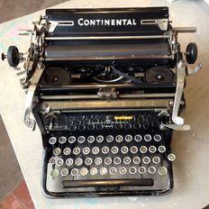Continental - Antieke continental schrijfmachine in perfecte staat met extra schrijflinten.