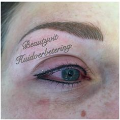 Permanente make-up van wenkbrauwen met de Hairstroke 3D techniek .  Beautyvit Huidverbetering dreef 10 4813eg Breda info@beautyvit.nl www.beautyvit.nl 076-5223838