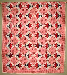 """""""Basket of Scraps"""" Antique Calico Patchwork Quilt, 1865-1890"""