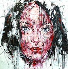 Lucile Callegari / T225 / Acrylique et fusain sur toile, 80x80cm, 2015.