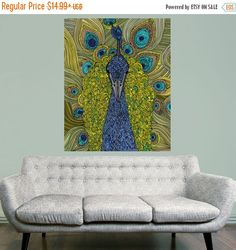 20% OFF SALE Peacock Animal Art Wall Sticker by MyWallStickers