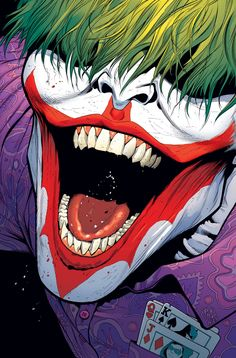 DC Comics June 2015 Theme Month Variant Covers Revealed - The Joker Joker Comic, Joker Dc, Batgirl, Art Du Joker, Cover Art, Harley Quinn Et Le Joker, Joker Kunst, Univers Dc, Dc Comics Art