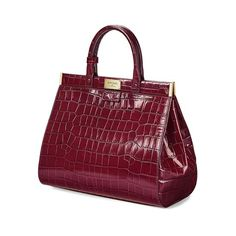 The Dockery Snap Bag - Large (Bordeaux Croc) from Aspinal of London Snap Bag, Aspinal Of London, Teacher Outfits, Large Bags, Beautiful Bags, Calf Leather, Bordeaux, Crocs, Florence