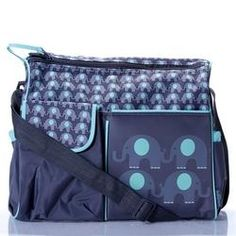 Personalized Baby Boy Elephant Diaper Bag Tote Products I Love Pinterest Personalised And